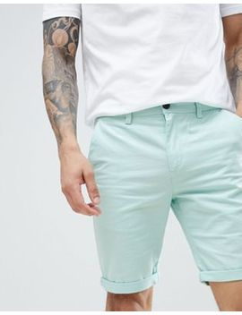 New Look Slim Fit Chino Shorts In Mint Green by New Look