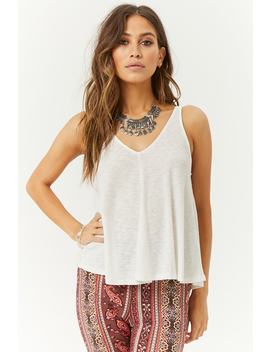 Marled Ribbed Swing Top by Forever 21
