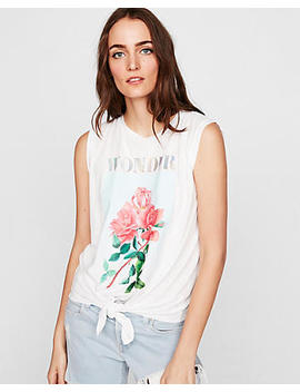 Express One Eleven Knot Front Graphic Tank by Express