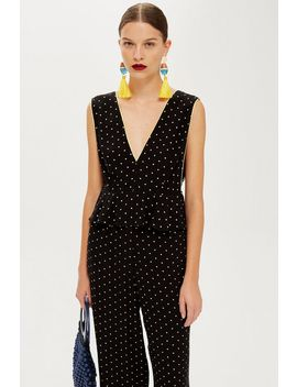 Spot Print Crop Top by Topshop