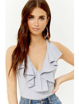 Ruffle Trim Tank Top by Forever 21