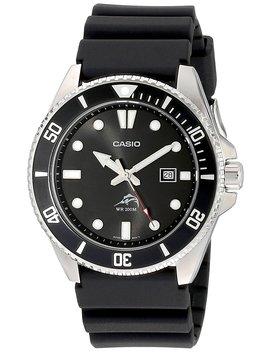 Casio Men's Core Mdv106 1 Av Black Resin Quartz Watch With Black Dial by