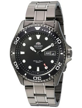 Orient Men's 'ray Raven Ii' Japanese Automatic Stainless Steel Casual Watch, Color:Black (Model: Faa02003 B9) by Amazon