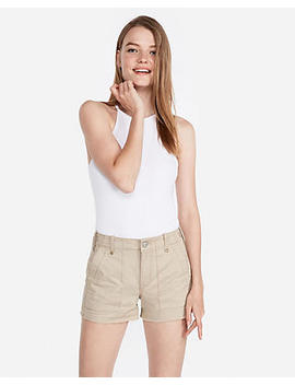 Mid Rise Utility Pocket Shorts by Express