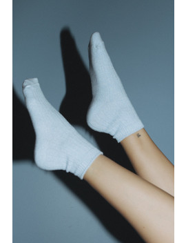 Light Blue Knit Socks by Brandy Melville