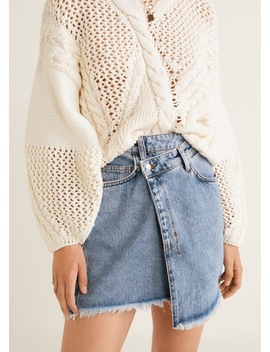 Wrap Waist Denim Skirt by Mango