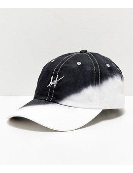 Huf Dip Dye Black Strapback Hat by Huf