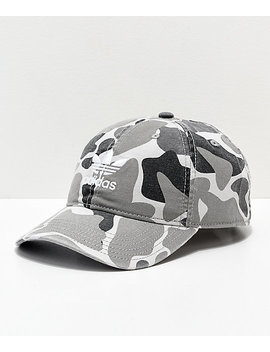 Adidas Trefoil White Forest Camo Strapback Hat by Adidas