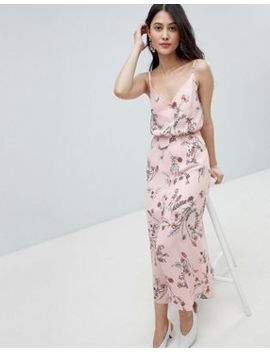 Oh My Love Buttoned Cami Maxi Dress In Floral Print by Oh My Love