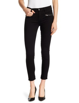 Zipper Skinny Ankle Jeans by 7 For All Mankind