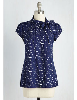Up, Up And Amaze Top In Ice Cream by Modcloth
