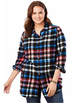 Women's Plus Size Classic Flannel Bigshirt by Woman+Within