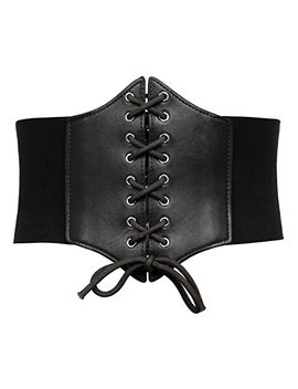 Grace Karin Lace Up Cinch Belt Tied Corset Elastic Waist Belt by Grace+Karin