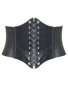 Hanerdun Lace Up Corset Elastic Cinch Belt Waist Belt Four Sizes by Hanerdun
