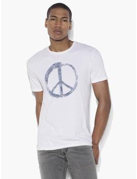 Peace Symbol Graphic Tee by John Varvatos