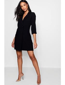 3/4 Sleeve Button Collared Duster Jacket by Boohoo