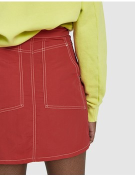 El Nylon Mini Skirt by Eckhaus Latta