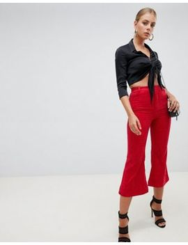 Missguided Cord Kick Flare Trousers by Missguided