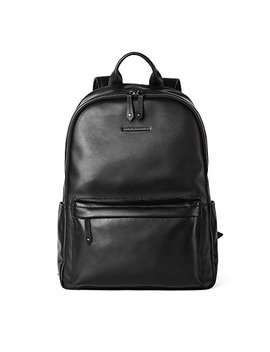 Sharkborough Men's Backpack Genuine Leather Travel Bag Extra Capacity Casual Daypacks by Sharkborough