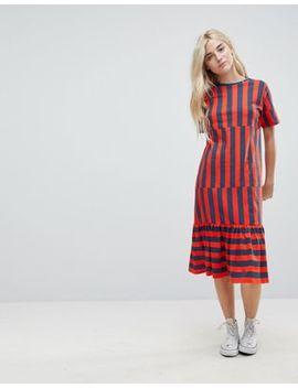 Asos Midi Block Stripe T Shirt Dress by Asos Collection