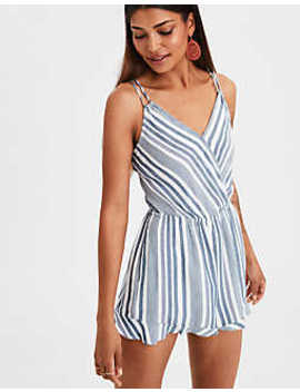 Ae Striped Strappy Romper by American Eagle Outfitters