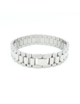 Metal Watch Band In Solid Stainless Steel Jubilee Style Bracelet 16mm Width by Etsy