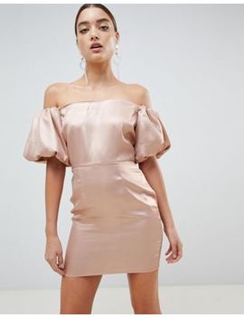 Missguided Puff Sleeve Dress by Missguided