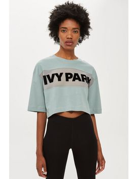 Sheer Flock Logo Crop T Shirt By Ivy Park by Topshop