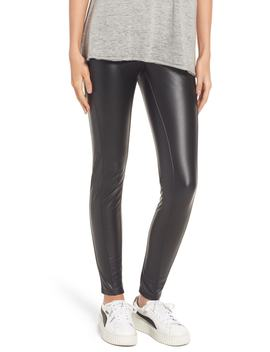 Bryce High Waist Faux Leather Leggings by LyssÉ