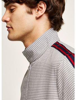 Gray Check Side Taping Harrington Jacket by Topman