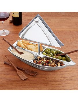 Rowboat Serving Bowl With Napkin Holder by Uncommon Goods