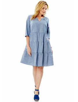 Women's Plus Size Tiered Trapeze Dress by Woman+Within