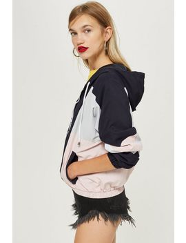Navy Windbreaker Jacket by Topshop