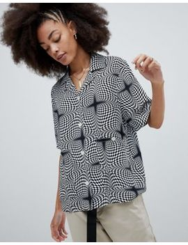 Stussy Oversized Shirt In Psychedelic Print by Stüssy