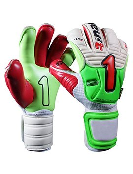 Rinat Soccer Goalkeeper Gloves: Rinat Imperator Pro (Green/White/Red, 7) by Rinat