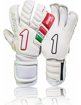 Rinat Goalkeeper Gloves Egotiko Cup Pro Mexico(White Size, 8) No Finger Support by Rinat