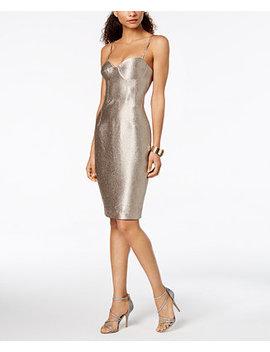 Metallic Corset Midi Sheath Dress by Bardot