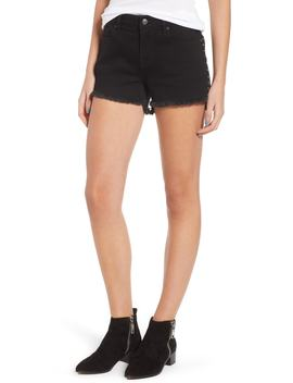 Studded Step Hem Denim Cutoff Shorts by Vigoss