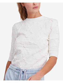 Eden Textured Elbow Sleeve Top by Free People