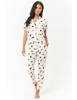 Ensemble De Pyjama à Imprimé Sushi by Forever 21