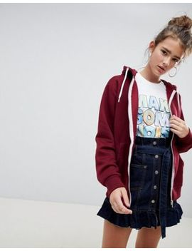 Daisy Street Zip Up Hoodie by Daisy Street
