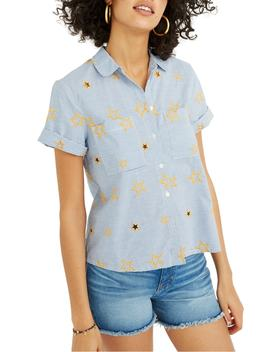Star Embroidered Stripe Shirt by Madewell