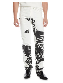 Men's Graphic Straight Leg Jeans by Calvin Klein 205 W39 Nyc