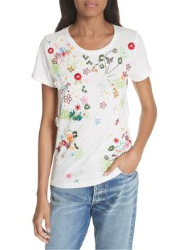 Rylyn Embellished Short Sleeve Tee by Alice + Olivia