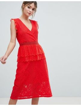 Liquorish Lace Midi Dress by Liquorish