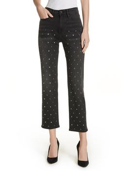 Le High Stud Ankle Straight Leg Jeans by Frame