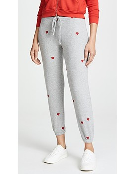 Tiny Heart Toss Sweatpants by Chaser