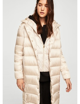 Detachable Hood Coat by Mango