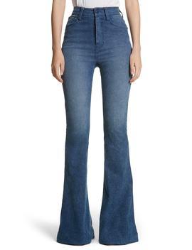 High Waist Bell Bottom Jeans by Brandon Maxwell
