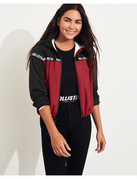 Logo Colorblock Jersey Lined Windbreaker by Hollister